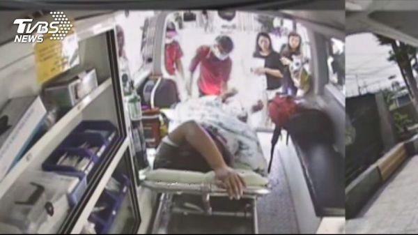 一名移工遭強酸噴濺慘死。 圖片來源:TVBS