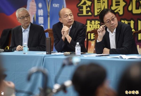 吳敦義、韓國瑜、張善政近來辱女言論無下限。 圖片來源:自由時報