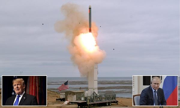 美國退出中程核飛彈條約後進行試射。 圖片來源:DailyMail