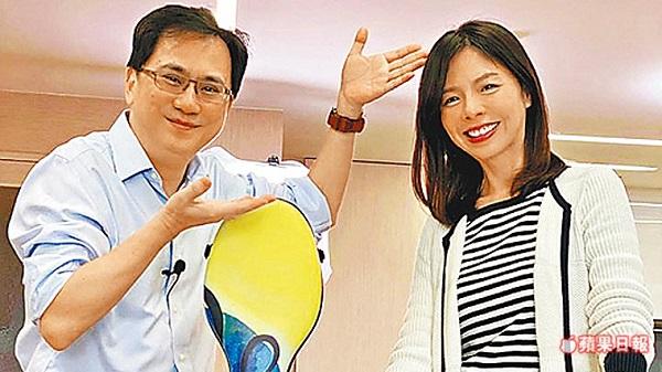 486先生邀洪慈庸上影音節目。 圖片來源:蘋果日報