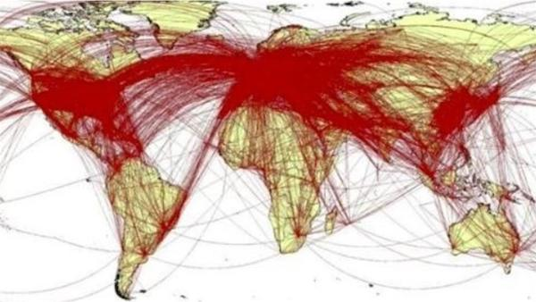 英國研究武漢封城前已出國武漢人的路線遍及全球。 圖片來源:ETToday