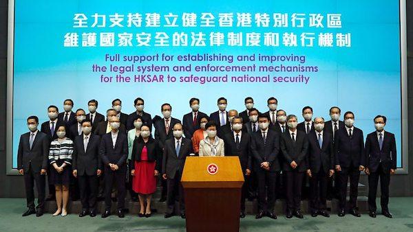 中國將制定用於香港的國安。 圖片來源:BBC