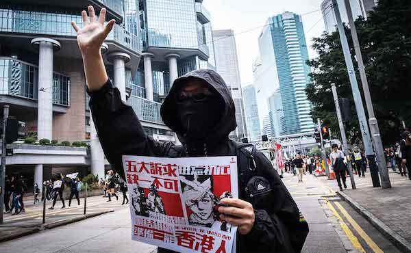 香港人拒絕中國民族主義。 圖片來源:Shutterstock