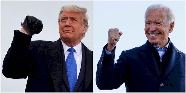 美國大選拜登與川普戰況激烈。 圖片來源:RTI