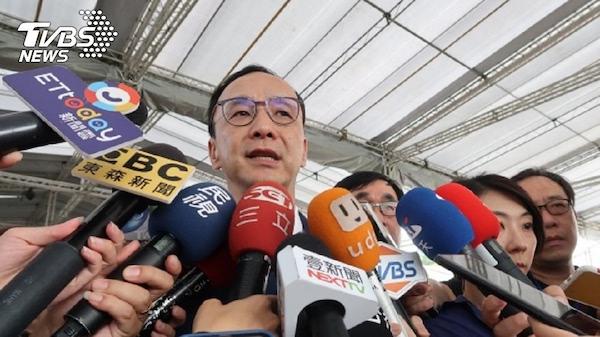 國民黨說是台灣挑釁中國。 圖片來源:TVBS