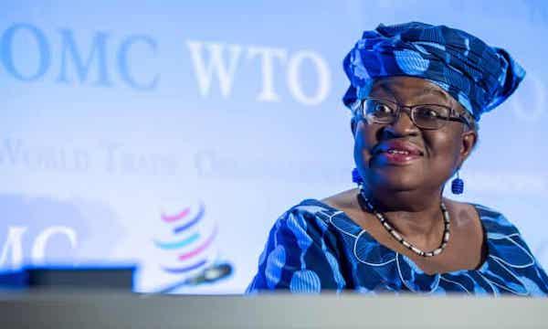 伊衛拉被任命為WTO新任秘書長。 圖片來源:Guardian