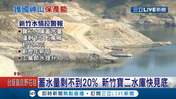 台灣即將陷入缺水危機。 圖片來源:三立新聞