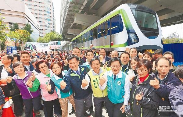 林佳龍對於台中捷運發展貢獻卓著。 圖片來源:中時電子報