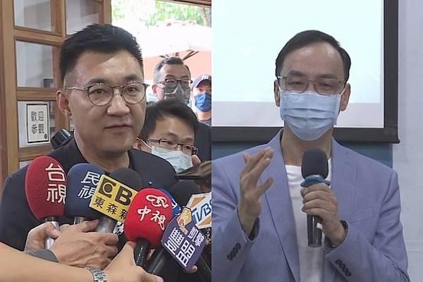 國民黨黨主席選舉,江啟臣與朱立倫是路線的對決。 圖片來源:華視
