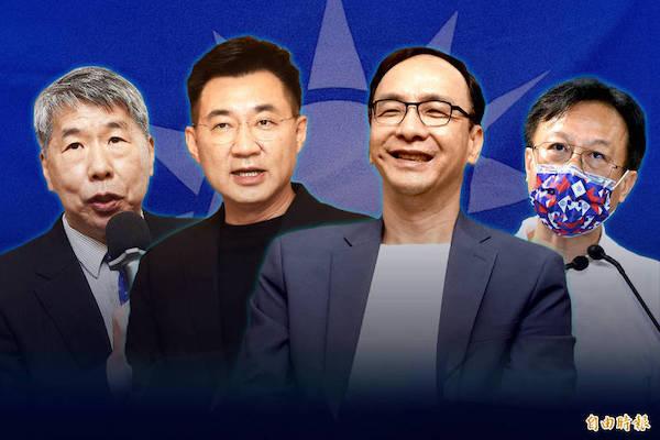國民黨黨主席候選人。 圖片來源:自由時報