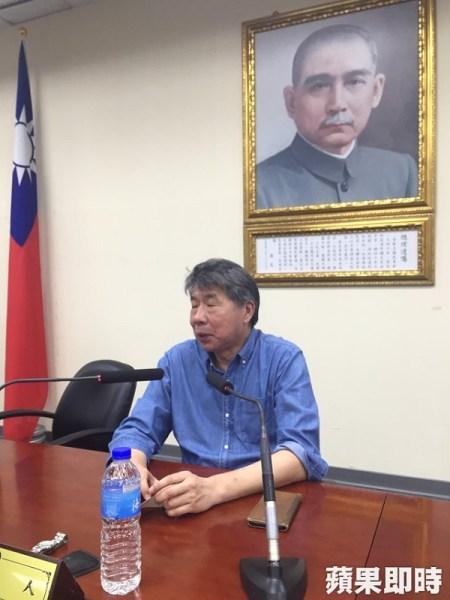 張亞中要選國民黨黨主席。 圖片來源:蘋果日報