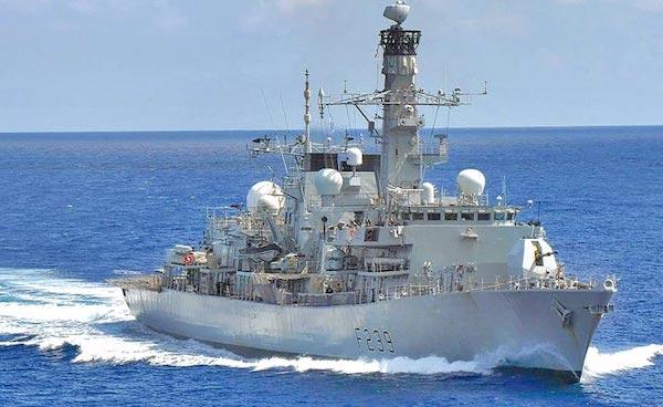 英國巡防艦通過台灣海峽意義非凡。 圖片來源:中時新聞網