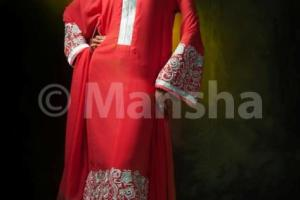 Mansha Boutique dresses for eid 2012