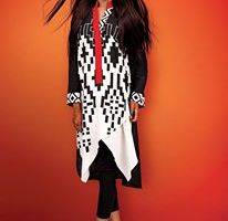 Cross Stitch Stylish Winter Wear Party Dress Collection 2014 For Women (1)