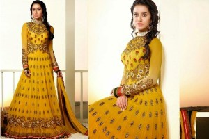 Fantastic Indian Shraddha Kapoor's Brides Trends  Anarkali Fashion 2014 (3)