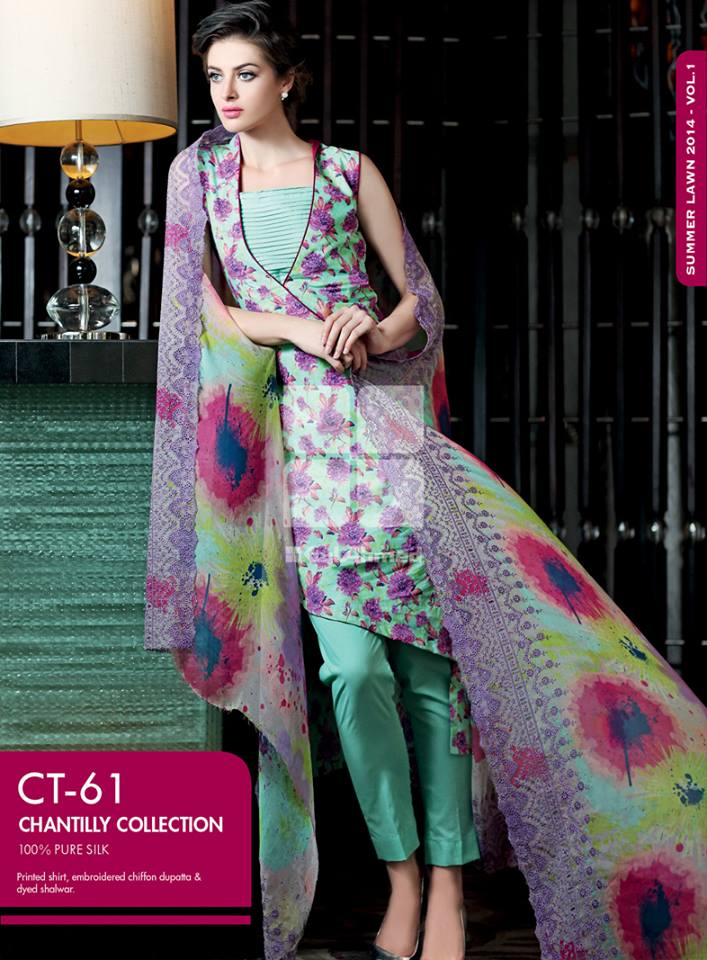 Gul Ahmed Summer Lawn Dresses Collection 2014 5