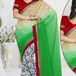 New Casual Wear Georgette Sarees Collection 2014 8