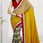 New Casual Wear Georgette Sarees Collection 2014 9