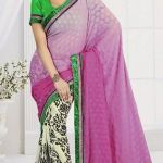 New Casual Wear Georgette Sarees Collection 2014