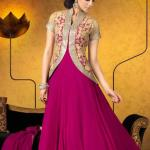 Party Wear Georgette Dresses Collection 2014 9