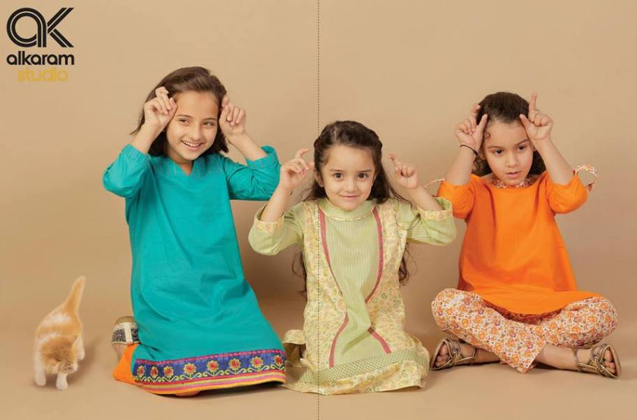 Alkaram Studio Kids Eid ul Azha Cool Dresses Gallery (2)