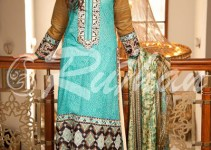 Rujhan Best Cool Summer Suits 2014 For Ladies (5)
