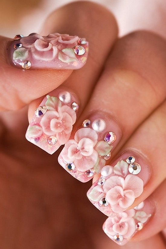 Suitable Rose Nail Fashion in Lovely Styles For Ladies (6)