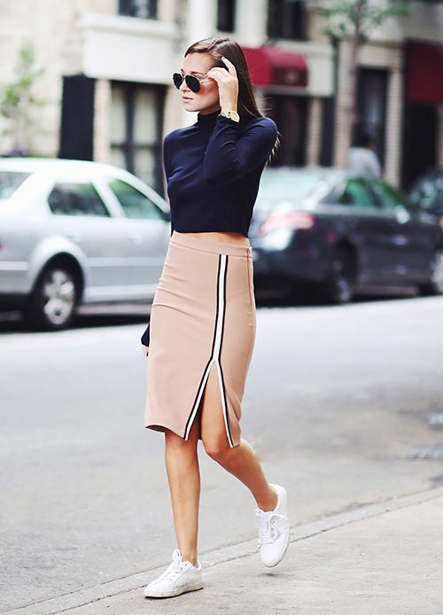 Cool Strategies to Pull Off Skirts and Footwear Vogue (3)