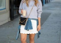 Cool Strategies to Pull Off Skirts and Footwear Vogue (4)