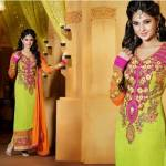 Jennifer Winget By Saheli Couture  Party Chic Garments Collection 2014-15 (2)