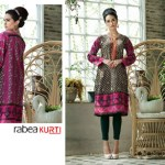 Rabea Kurti Collection 2014-15 By Shariq Textile 7