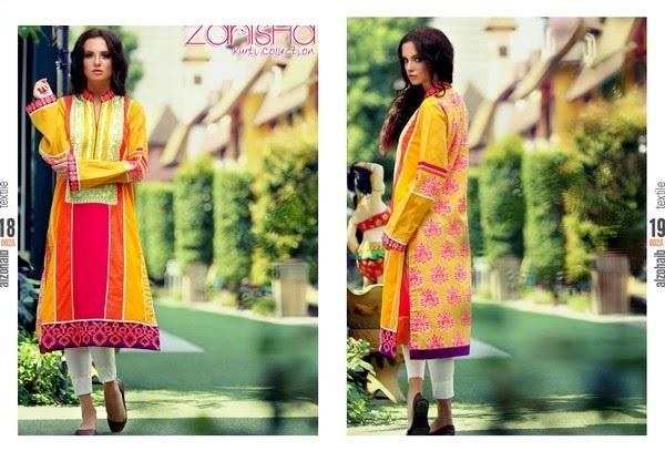 Zanisha Stitched Linen Garments 2014-15 by Al-Zohaib (5)