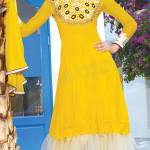 Henna Function Yellow Dresses Collection For Girls 2014-15 (3)
