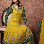 Henna Function Yellow Dresses Collection For Girls 2014-15 (6)