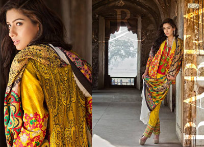 Rabea Pashmina Designer Embroidered Collection 11