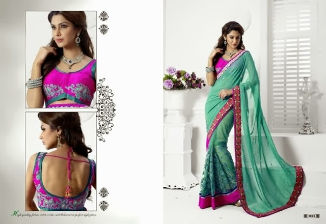 Indian Party Day Saree fashion 2015-16 For Girls (1)