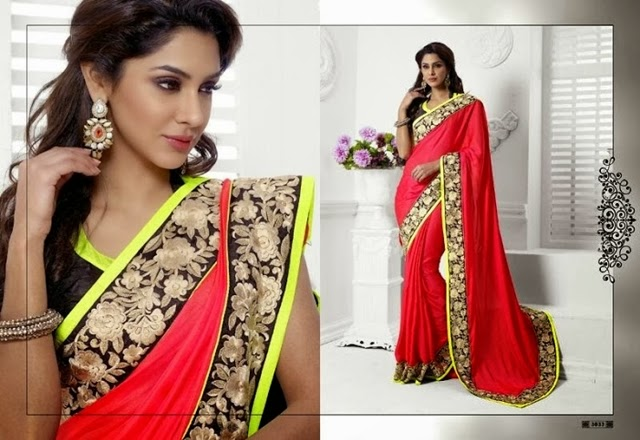 Indian Traditional Party Wear Sarees Blouse 2015