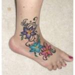 Latest Eid Feet Flower Tattoos Designs 2015