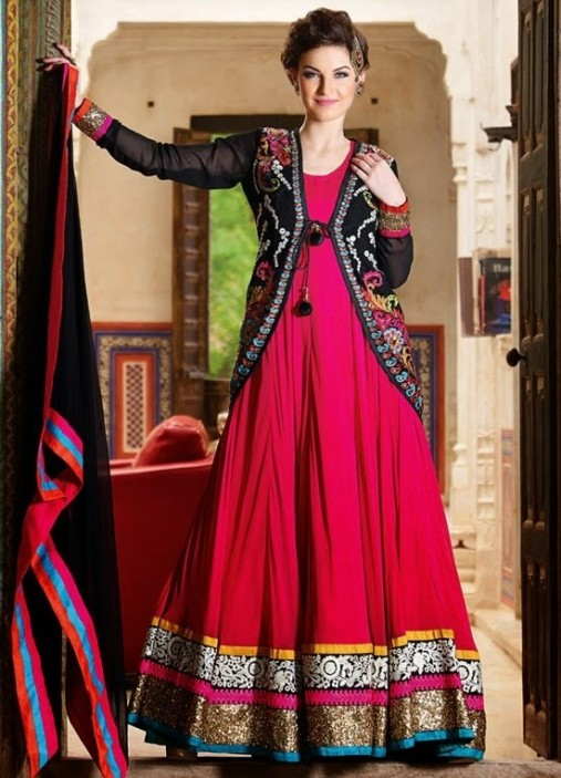 Jacket Types Shirts Ghagra Dresses 2015 for Party Wear (1)