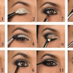 Step By Step Black Smokey Eye Makeup