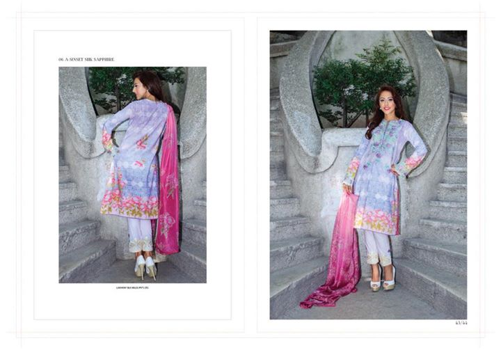 Farah Talib Aziz A Mediterranean Dream 2015 Collection Lakhany Silk Mill (1)