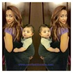 Hostest Model Mathira cute baby pics