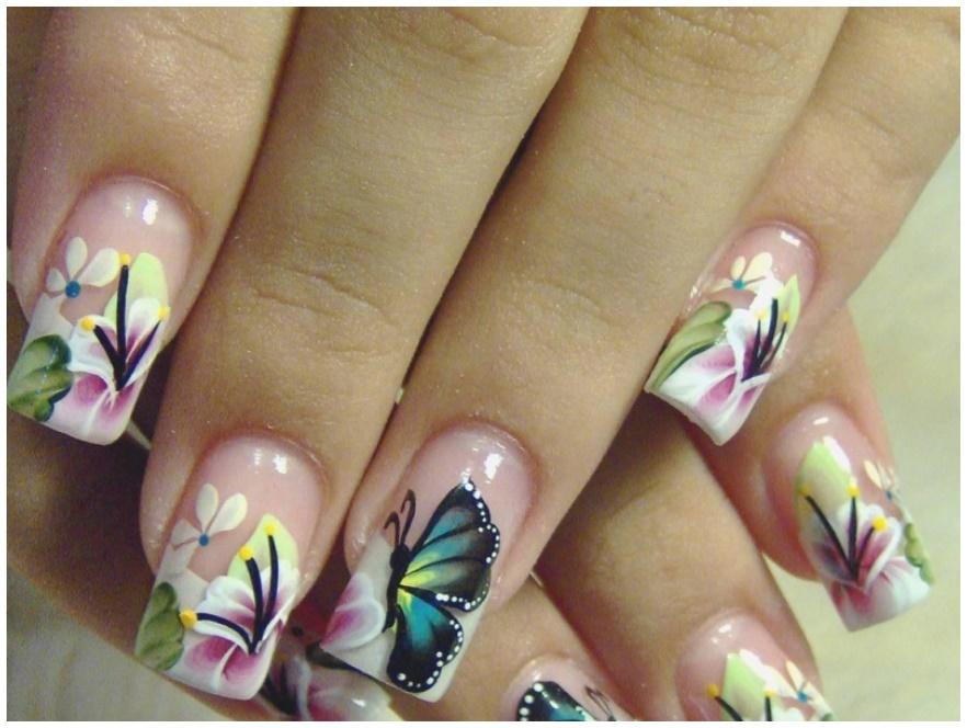 Latest Nail Art Butterfly design