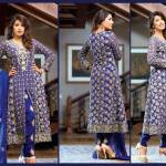 Green suit for eid by Royal Fantasy by Falak Fabrics