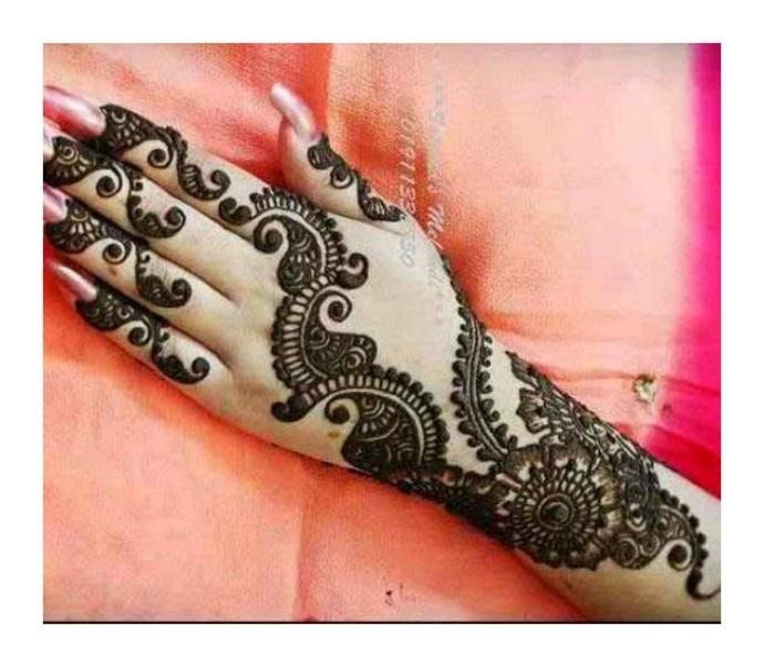 News full hand baazoo Mehndi Design