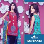 Rehaab Premium Embroidered Lawn Eid Collection 2015