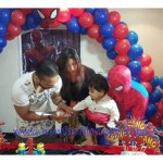 Model Mathira Spiderman fashion at her son birthday