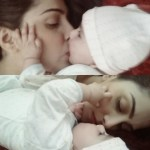 TV actress Ayeza Khan with here baby girls