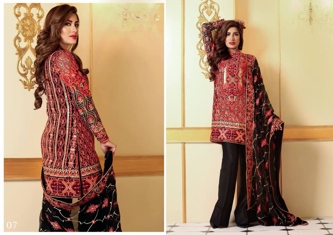 Nomi Ansari Embroidered Chiffon Collection 2016-17 Prices