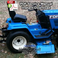 Ford LGT 14D Diesel Tractor Shop Repair Manual